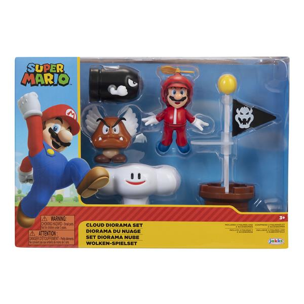 Super Mario 2.5 Inch Diorama Set Cloud