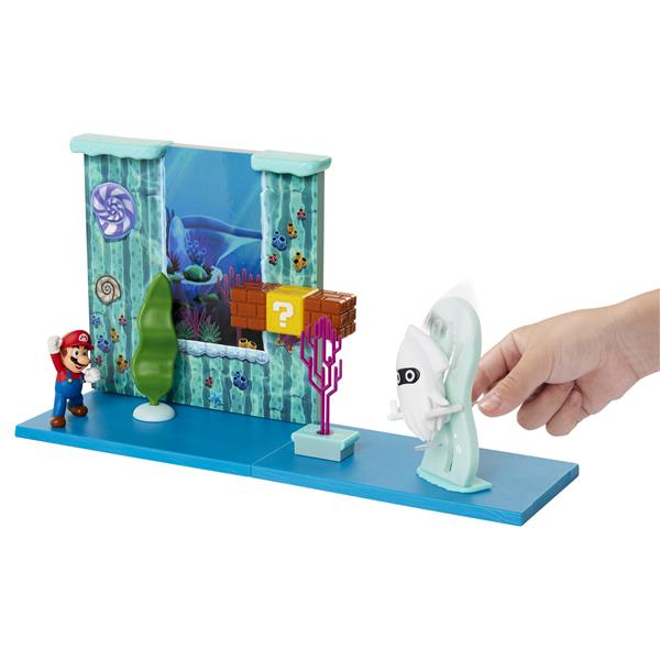 Super Mario 2.5 Inch Playset Underwater