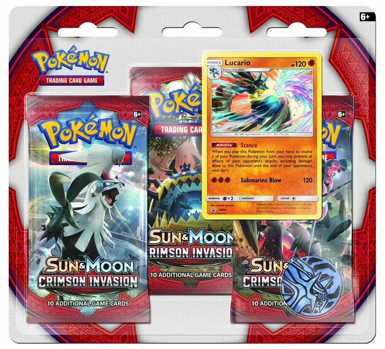 Pokemon Sun & Moon 4 Crimson Invasion 3-Pack - Lucario