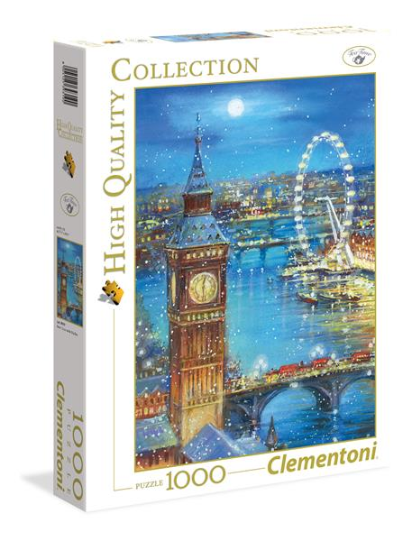 Clementoni High Quality Collection - Snow flakes on Big Ben (1000 bitar)