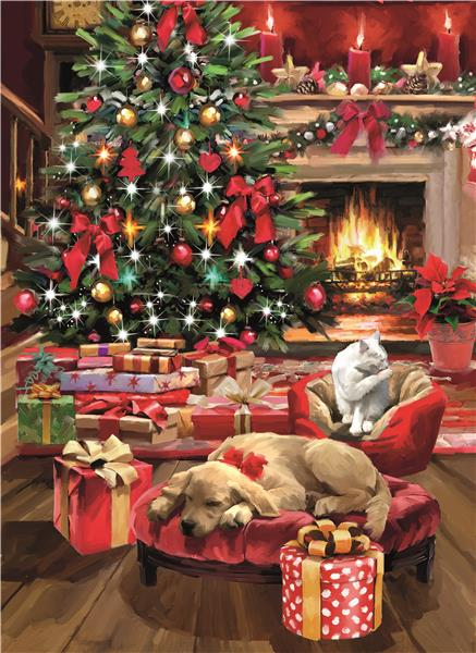 Clementoni High Quality Collection - Christmas by the fire (1000 bitar)