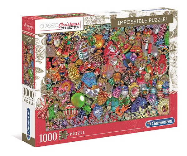 Clementoni Classic Christmas Collection - Impossible Puzzle Jolly Christmas (1000 bitar)