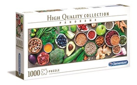 Clementoni High Quality Collection - Panorama Healthy Veggie (1000 bitar)