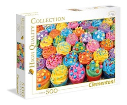 Clementoni High Quality Collection - Colorful Cupcakes (500 bitar)