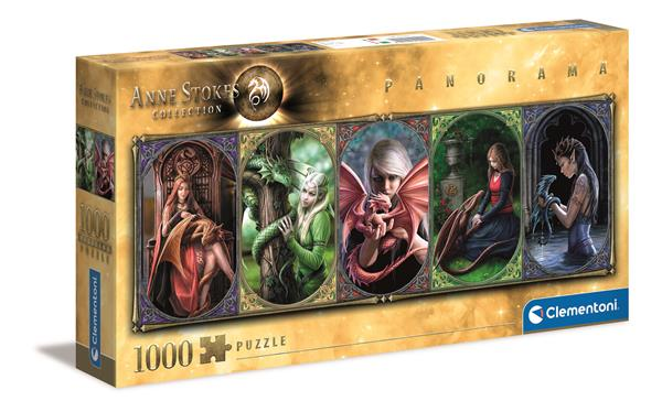 Clementoni High Quality Collection Panorama - Anne Stokes - Dragon Friendship (1000 bitar)