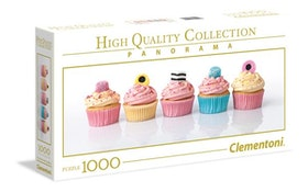 Clementoni High Quality Collection Panorama - Liquorice Cupcakes (1000 bitar)