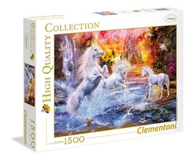 Clementoni High Quality Collection - Wild Unicorns (1500 bitar)