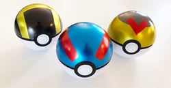 Pokemon PokeBall - Paket med 3st tomma Pokeballs