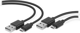 SpeedLink - STREAM Play & Charge USB Cable Set - for PS4, black