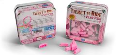 Ticket To Ride Play Pink  (Rosa spelpjäser för att stödja BCRF)
