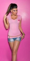 KouCla Topp med lomme og studs - rosa