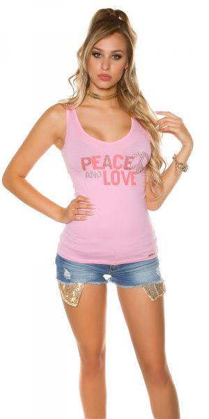 Topp Peace and Love - lyserosa