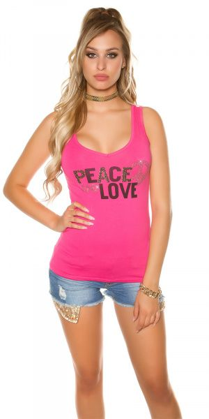 Topp Peace and Love - rosa