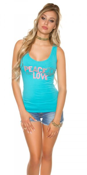 Topp Peace and Love - turkis