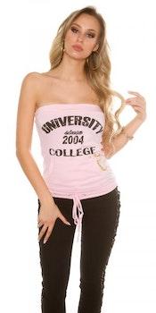 """Bandeau-topp """"University"""" - rosa"""