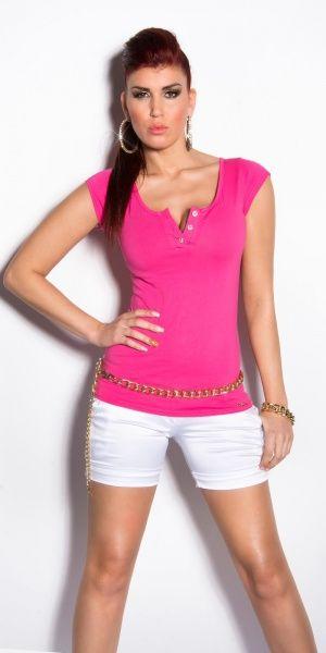 KouCla T-Shirt Zipper - rosa