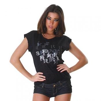 t-shirt wj-3797 - svart
