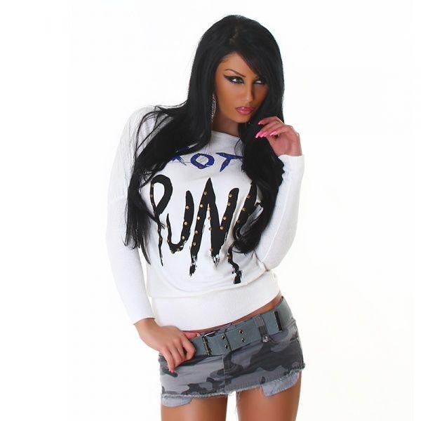 Punk genser - hvit