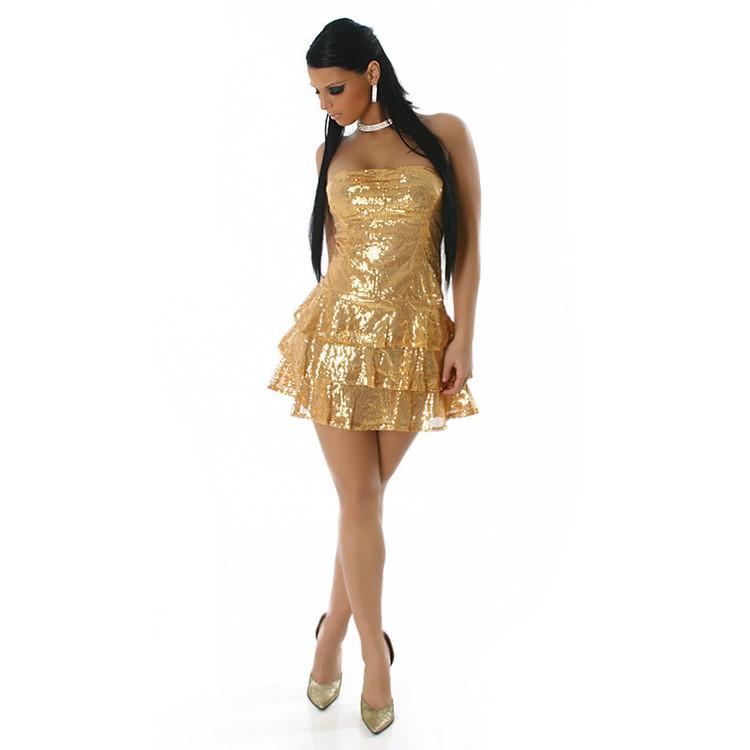 Kjole Modell Tilona - gull