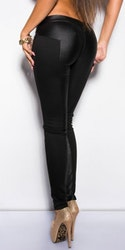 Wetlook treggings - svart