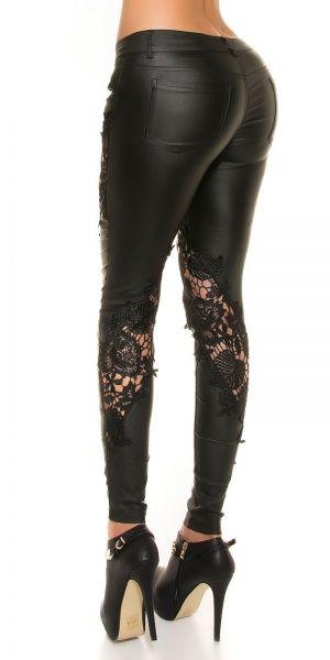 leatherlook pants - blonder