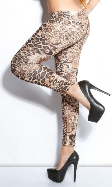 LowCut treggings - leopard