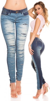 Jeans trendy cracks