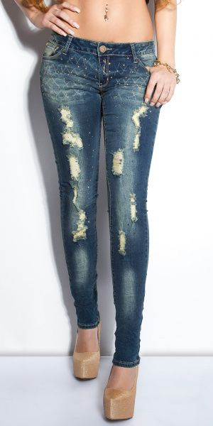 Jeans studs and cuts