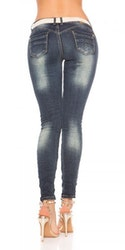 Jeans med rhinestones & belte