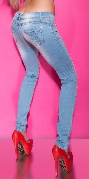 KouCla jeans med perler og rhinestones