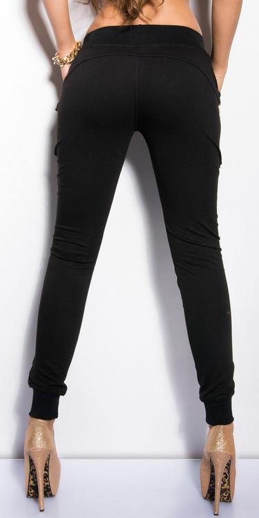 Joggebukse med bling - svart