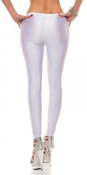 Shiny Leggings - hvit