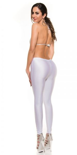 Shiny Leggings - hvit