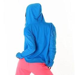 Hoodie med strass - blå