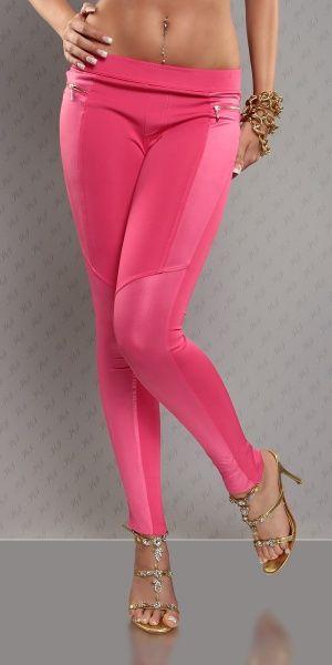 Treggings Leatherlook - rosa
