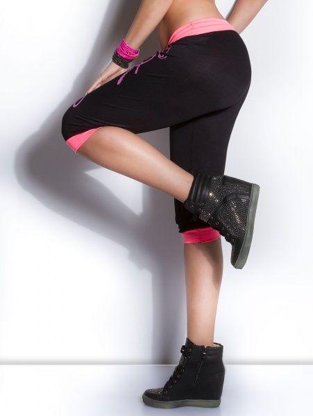 Koucla capri - svart/rosa