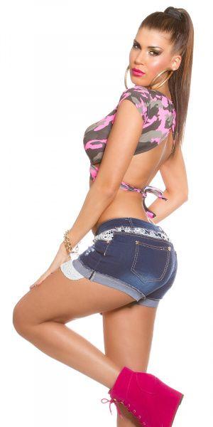 Jeans shorts - hvit