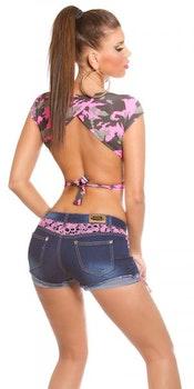 Jeans shorts - rosa