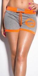 KouCla Sweat Shorts - grå/neonorange