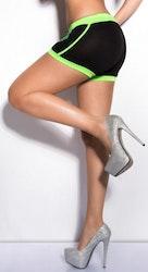 KouCla Sweat Shorts - svart/neongrønn