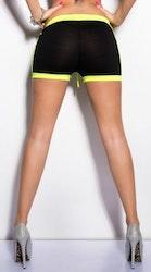 KouCla Sweat Shorts - svart/neongul