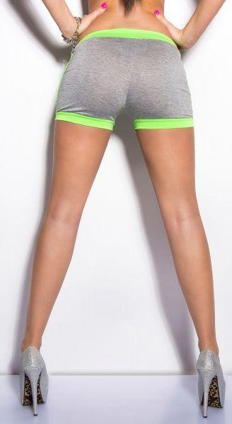 KouCla Sweat Shorts - grå/neongrønn