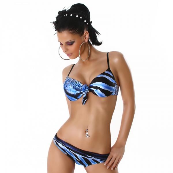 Bikini Modell 1039 - blå/svart