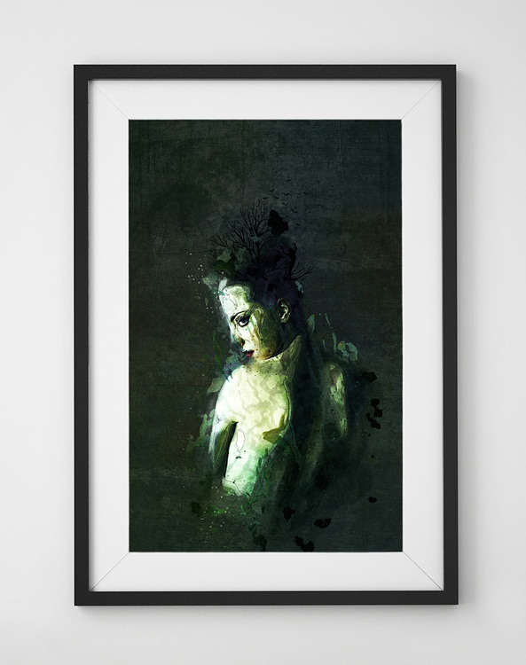 'Caustic Solitude' Gicléetryck 42x59 (LIMITED)