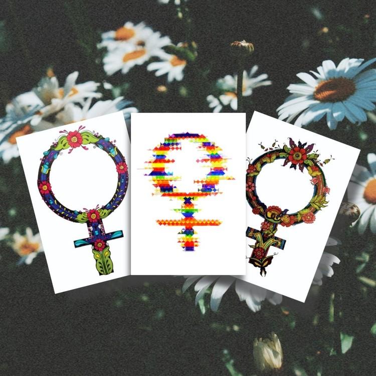 3 feministiska vykort för 59 kr
