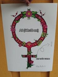 """Feministkurbits """"Gagnef"""" Prints 2:a sortering Begränsat antal"""
