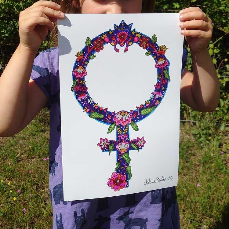 "Feministiskt print ""Jenny"" i A4-format."