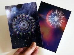 Mandala vykort 10-pack