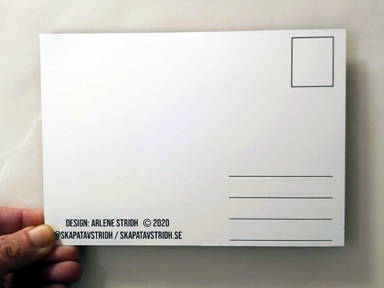 Baksida vykort