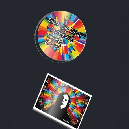 Streetart klistermärken 2-pack